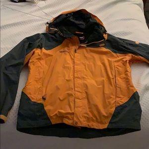 Men's Orange and Gray XL Marmot Hard Shell Jacket